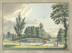 View of the iron bridge over the canal in the Duke of Northumberland's park at Sion